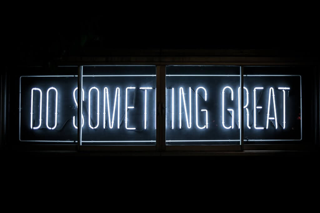 Do something great neon text blue fun stuff to do in Amsterdam