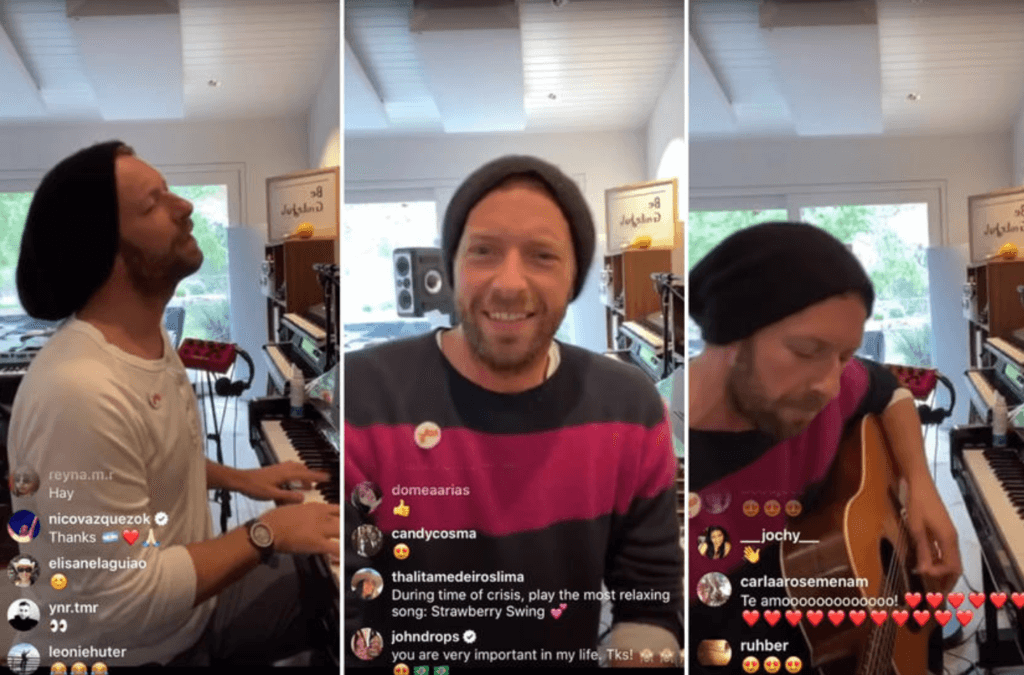 Chris Martin instagram concert things to do in amsterdam